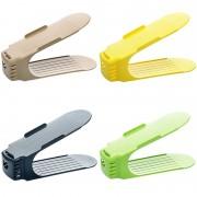 6 Suport organizator din material plastic pentru pantofi, 28  x 11 x14 cm