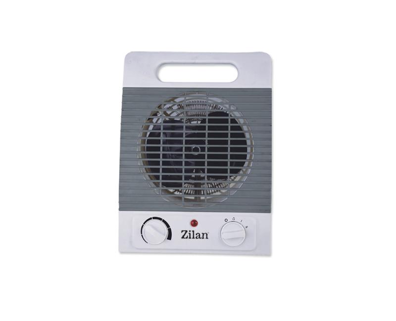 Aeroterma ZILAN, 2000W, 2 nivele de incalzire + aer rece, Termostat reglabill