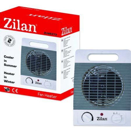 Aeroterma cu  2 nivele de incalzire+rece, protectie supraincalzire, termostat reglabill, 2000W, Zilan