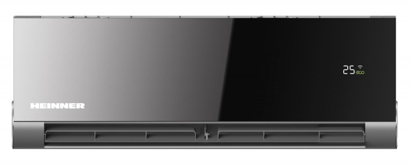 Aparat de aer conditionat Heinner Obsidian 12000 BTU Wi-Fi, Clasa A++, Functie incalzire, Design Vshape, Filtru High Density, Eco Mode, HAC-12OWF-BK,