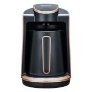 Aparat pentru preparat cafea turceasca Hausberg, 1 recipient, 400W, avertizare sonora si luminoasa, Auriu/Negru