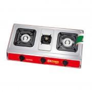 Aragaz cu 3 Ochiuri Ertone,GPL,aprindere electronică, Inox