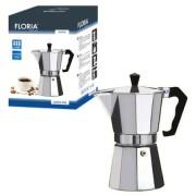 Cafetiera espresso aluminiu Floria, 300 ml, capacitate 6 cesti