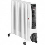 Calorifer electric cu ulei ,13 elementi, ventilator 400W, protectie supraincalzire, termostat reglabil, 2500W, HEINNER