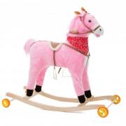 Calut balansoar pentru copii, muzica, roti, 20 Kg, 90 x 28 x 80, roz