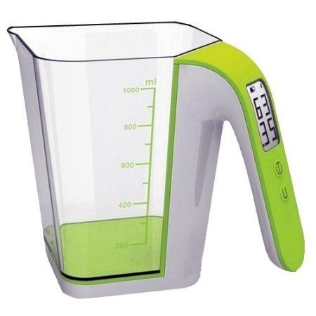 Cantar tip Cana gradata cu ecran LCD, 2Kg, alb/verde