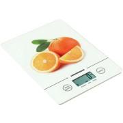 Cantar de bucatarie Heinner, 5kg, functie cantarire lichide, control touch cu display lcd, gradare 1g, Alb