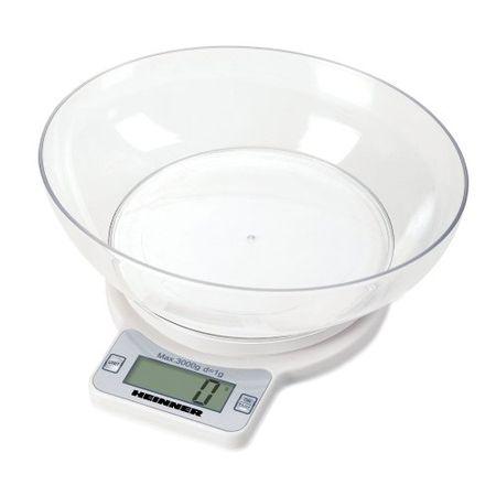 Cantar de bucatarie Heinner, Control electronic, 3 kg, Alb