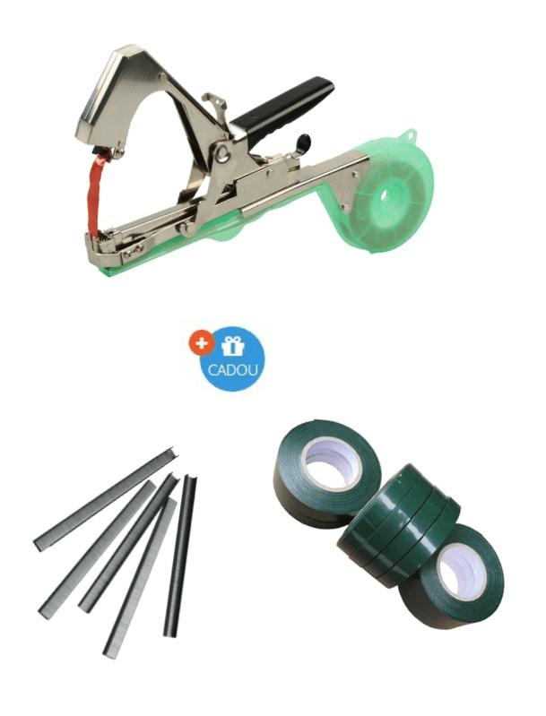 Capsator pentru legare plante + Capse & Benzi