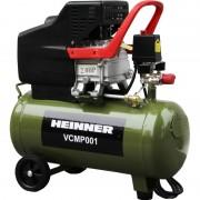 Compresor Heinner, 2 CP, 50 l capacitate rezervor, 8 bar presiune lucru, 224 l/min debit aer refulat