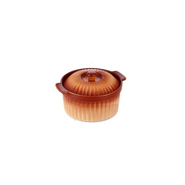 Cratita ceramica rotunda cu capac, Vabene, 3 Litri, 28 cm
