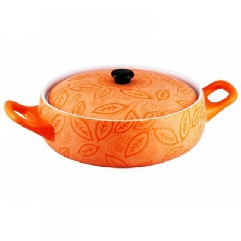 Cratita ceramica rotunda cu capac, Vabene, 1.5 Litri,28 cm