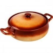 Cratita rotunda din ceramica cu capac 2.5 L