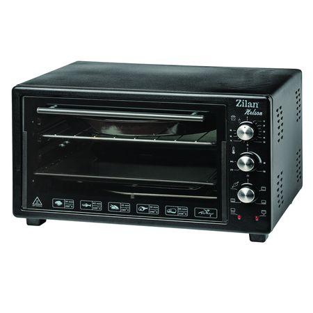 Cuptor Electric, 1700 W,2 tavi, timer 90 min,temperatura maxima 300 grade, termostat, Zilan, 45 Litri