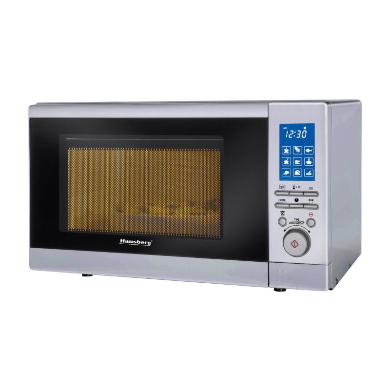 Cuptor Microunde Digital, 800 W, Funcție Grill,Sistem siguranta, Timer, Ceas, 20 Litri, Hausberg