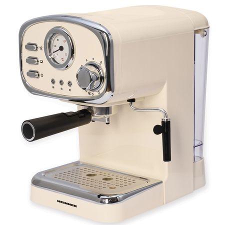 Espressor Heinner, 1100 W, 15 Bar, 1.25 L, Crem