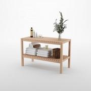Etajera din lemn cu 2 rafturi, 35 x 80 x 50 cm, bienWood