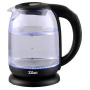 Fierbator Apa ZILAN, 2200W, 1.7L, Control Temperatura, Iluminare LED, Sticla