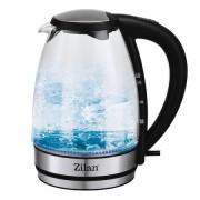 Fierbator apa Zilan, leduri iluminare apa, Putere 2200 W, Capacitate 1.7 l
