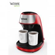 Filtru cafea  cu doua cesti din ceramica Victronic, 2x125ml, 450W
