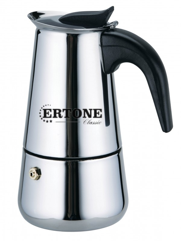 Filtru de cafea manual cu 12 cesti,inox,Ertone