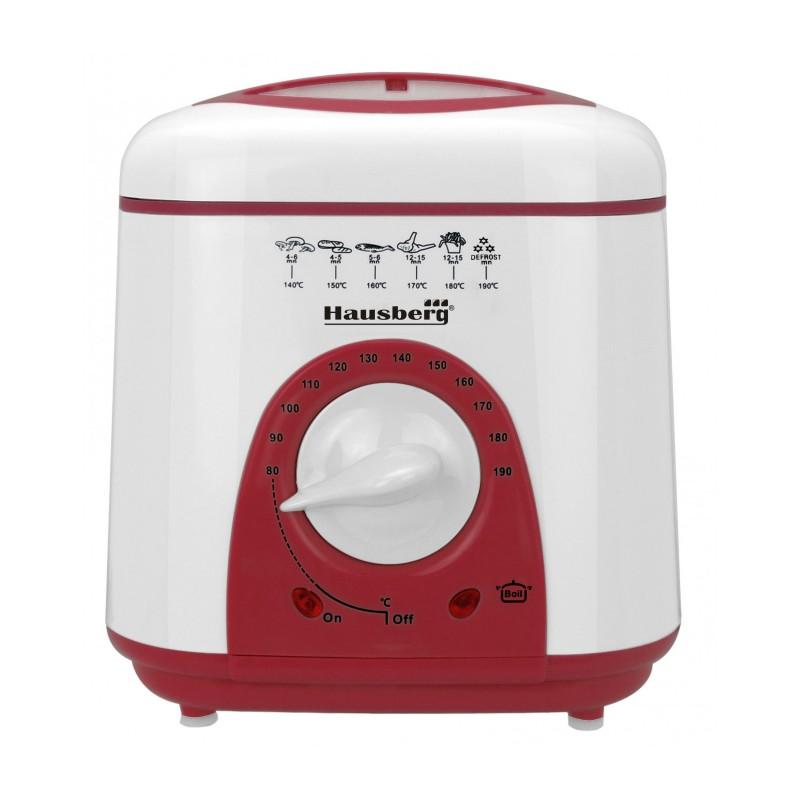 Friteuză electrica cu termostat, 950 W, 1 Litru,  Hausberg