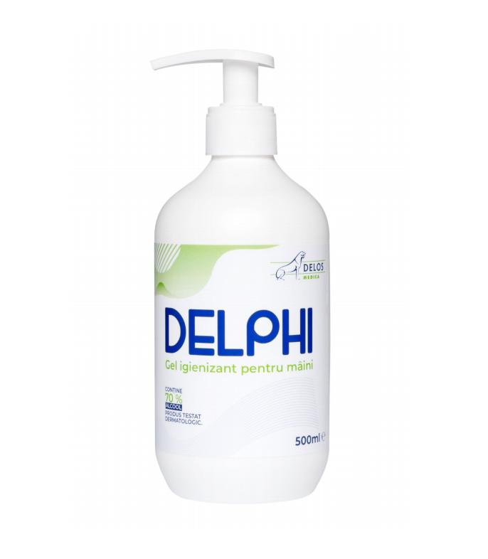 Gel igienizant,Delphi ambalat  la 500 ml  pentru maini, 70% alcool