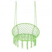 Hamac tip scaun suspendat, impletitura policoton  cu accesorii incluse, 80 x 120 cm, Verde
