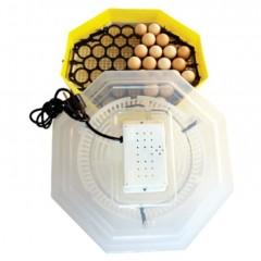 Incubator electric cu dispozitiv de intoarcere, Capacitate: 41 oua gaina sau 74 oua prepelita