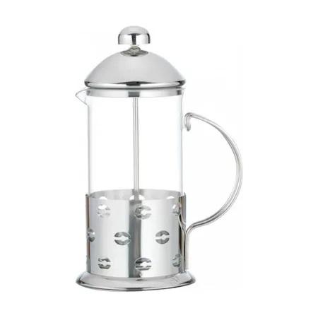 Infuzor ceai si cafea Ertone, 600 ml, sticla, inox, argintiu
