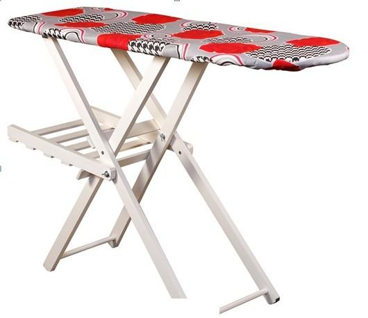 Masa de calcat cu gratar din lemn,culoare alb