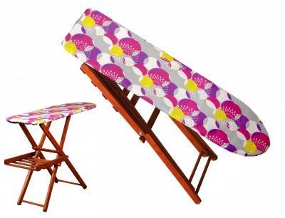 Masa de calcat cu gratar din lemn,culoare maro,Vaporella
