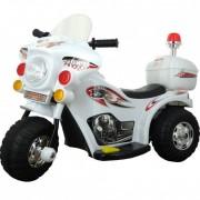 Motocicleta electrica cu acumulator, pentru copii , Jolly Kids (alb)