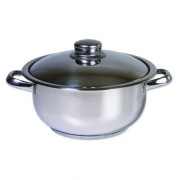 Oala din inox cu capac, 30 cm, 12 L, 3 straturi, Cocinera