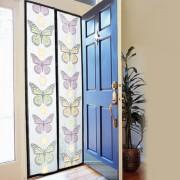 Perdea anti insecte cu magneti pentru usa Fly Insect, 210x100cm, Fluturi