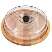 Platou rotund , din lemn cu capac din plastic, Ø 31 x 8.50 cm, bienWood