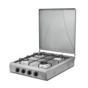 Plita portabila GPL Hausberg, Inox, 4 arzatoare