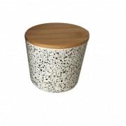 Recipient pentru depozitare , din fibre de bambus , cu capac , Grunberg, 11cm