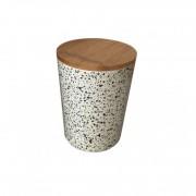 Recipient pentru depozitare , din fibre de bambus , cu capac , Grunberg, 13.9cm