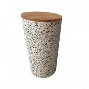 Recipient pentru depozitare , din fibre de bambus , cu capac , Grunberg, 18cm