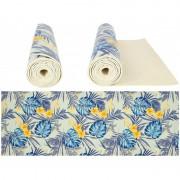 Saltea yoga cu design roll-up si suprafata anti-alunecare, 173 x 61 x 0.50 cm , Grunberg (multicolor)