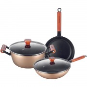 Set 5 piese Cooking Emera, otel carbon