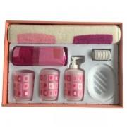 Set accesorii pentru baie, 7 piese, plastic