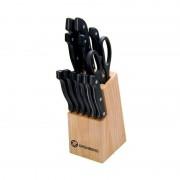 Set cutite cu suport din lemn Grunberg, 13 piese