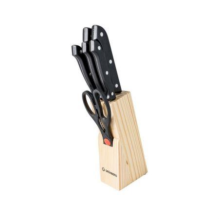 Set cutite cu suport din lemn, 7 piese, Grunberg