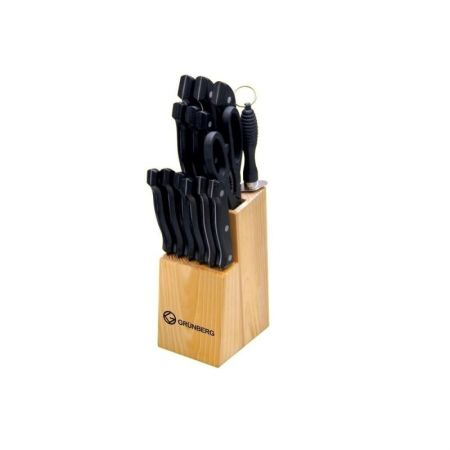 Set cutite cu suport din lemn Grunberg, 15 piese