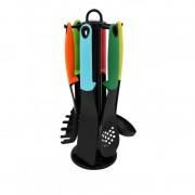 Set ustentile pentru bucatarie, suport,7 piese Grunberg, Model multicolor