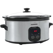 Slow Cooker Heinner, 5.7 L, 220 W, Control Electronic, Timer, Inox