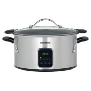 Slow Cooker Heinner, 6 L, 185 W, Control Electronic, 3 Setari temperatura, Timer, Inox