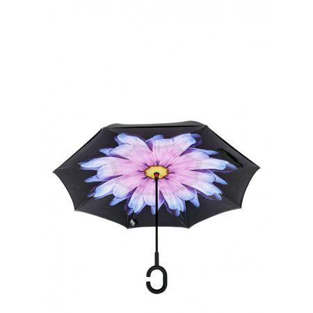 Umbrela de ploaie cu  Imprimeu Interior Blue Flower, 106 cm